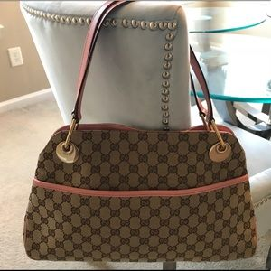 Authentic Gucci Monogram Eclipse Shoulder Bag